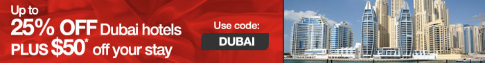 $50 towards your Dubai hotel stay