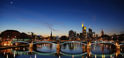 Frankfurt evening skyline