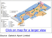 Gatwick Airport Terminal Map