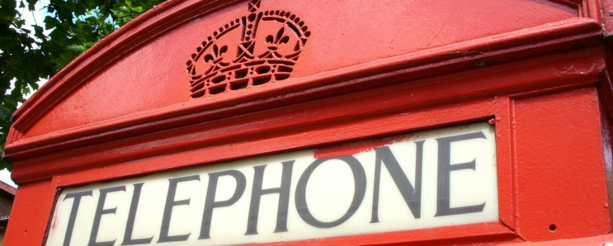 Telephone booth in Manchester, UK