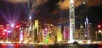 Hong Kong Night City Skyline