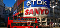 London Bus and Leicester Square