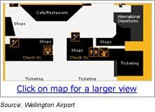 Wellington Airport Terminal Map